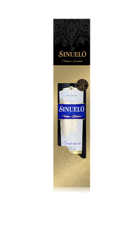 Vinho Bordô Demi-Sec Sinuelo + Cartucho